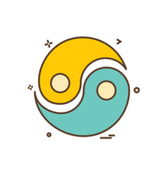peace icon design vector image