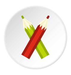 Pencils icon circle vector