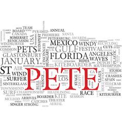 Pete word cloud concept vector