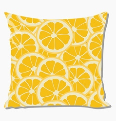 Pillow with orange pattern vector image
