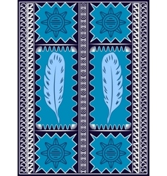Postcard Ethnic Feathers Design vector