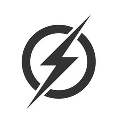 Power lightning logo icon vector