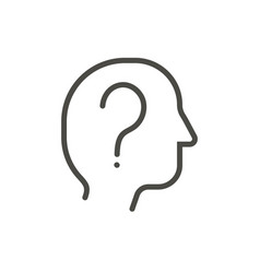 question icon outline question mark in hum vector image