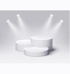 Round empty podium award ceremony concept stage vector