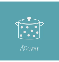Saucepan with dots Menu cover vector image