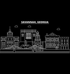 savannah silhouette skyline usa - savannah vector image