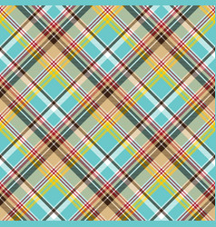 Seamless fabric texture plaid blue madras vector