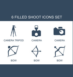 Shoot icons vector