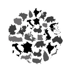 Simple maps of different country collection vector