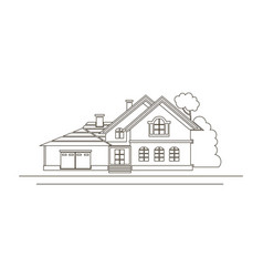 sketch design of house vector image