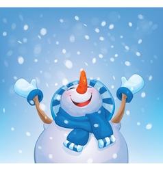 snowman blue vector image