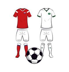 Soccer team uniforms vector