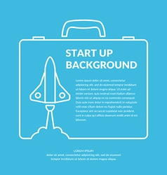 Start up background vector