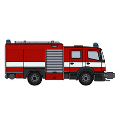 The red fire truck vector