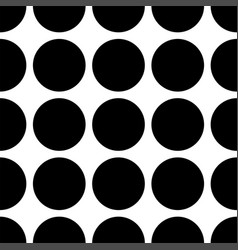 Tile pattern with black dots on white background vector