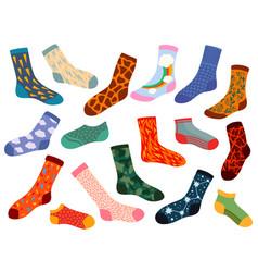 Trendy socks stylish woolen and cotton sock vector
