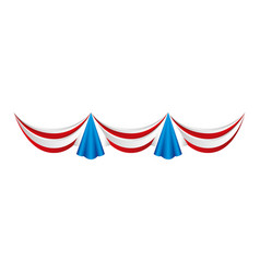 usa garlands celebration isolated vector image