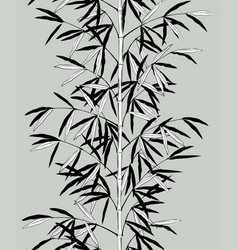 vertical seamless pattern background bamboo vector image