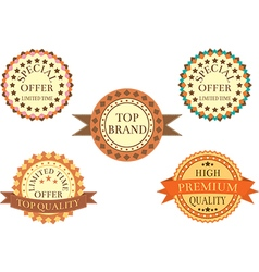 Vintage Promotion Badges vector