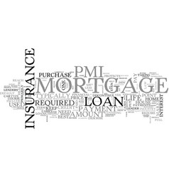 What every mortgage holder should know about pmi vector