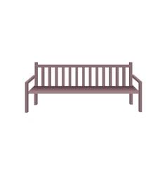 Wooden Park Bench vector