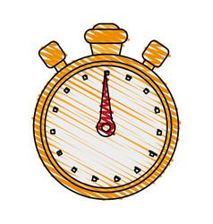 chronometer doodle vector image