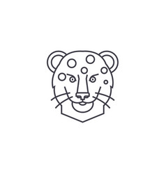 leopard head line icon sign vector image
