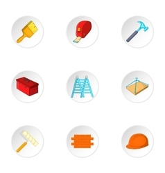 Repair icons set cartoon style vector image vector image