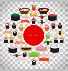japanese food sushi poster vector image