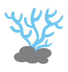 marine coral isolated icon vector image