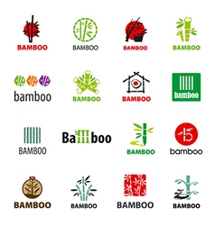 biggest collection of logos bamboo vector image