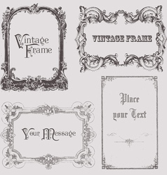 vintage frames and design elements - with place fo vector image