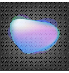 Abstract Metal Background With Blue Speech Bubble vector image
