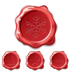 christmas seal wax vector image vector image