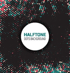 halftone dots background 2609 vector image