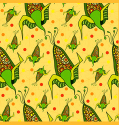 seamless pattern of decorative corn abstract corn vector image