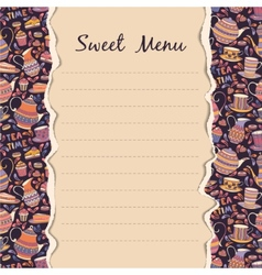 Sweet Menu vector image