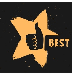 The symbol is the best choice vector image