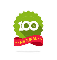 100 natural green and red label stamp vector