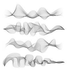 Abstract sound waves isolated on white background vector