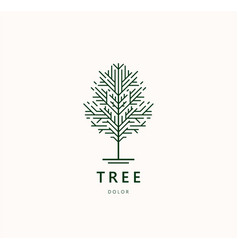 Abstract tree logo icon template design vector