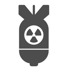 atomic bomb solid icon air bomb vector image