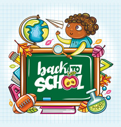 back to school banner series vector image