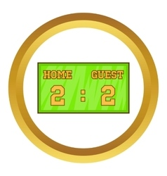 Baseball score board icon vector