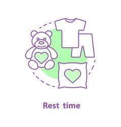 bedtime concept icon vector image