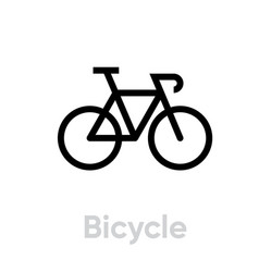 Bicycle icon editable stroke vector