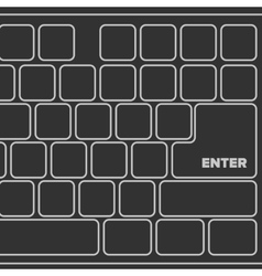 Black laptop computer keyboard vector
