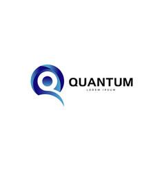blue letter q logo symbol icon vector image