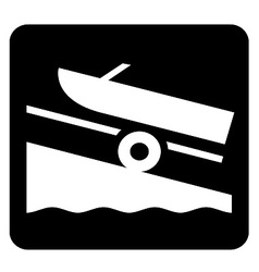 Boat Launch Sign vector image