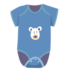 body for newborn children clothes with print vector image